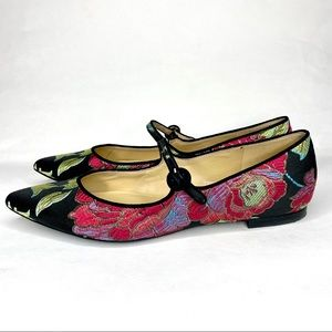 Marc Fisher Floral Embroidered Flats